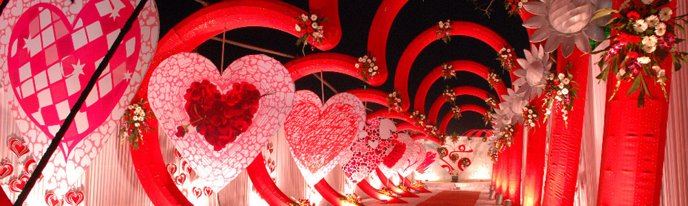 Wedding planner withlove events wedding planner indore Valentine stage decorations